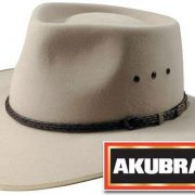 Akubra Cattleman Felt Hat - SAND [Hat Size:59cm / 7 3/8'']