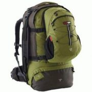 Black Wolf Cuba 65L EXANDABLE Travel Pack & Zipoff daypack - Cactus