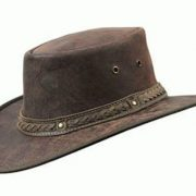 BARMAH SQUASHY ROO CRACKLE LEATHER HAT [Hat Size:XL]