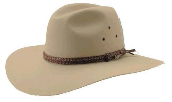 AKUBRA Riverina WIDE BRIM Felt Hat – Sand  Hat Size 56cm   7 ... 0da071b4148