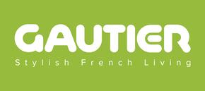 En logo gautier blanc fond vert signature hd