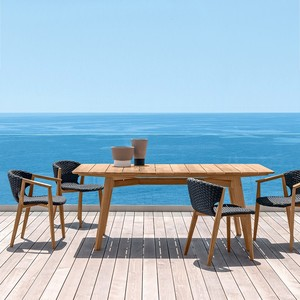 Ethimo knit dining collection by the sea