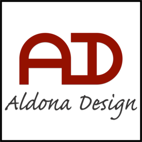 Aldona design logo (colour) square