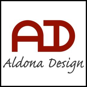 Aldona design logo (colour) square