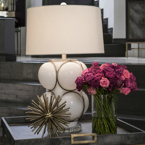 Nellcote studio white bubble lamp