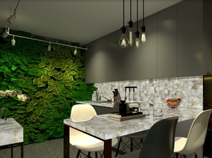Kitchen featuring pearl mosaic