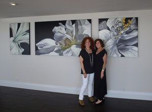 Deborah bigeleisen (l) with the collector