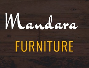 Mandara furniture logo by jeff colour wood background
