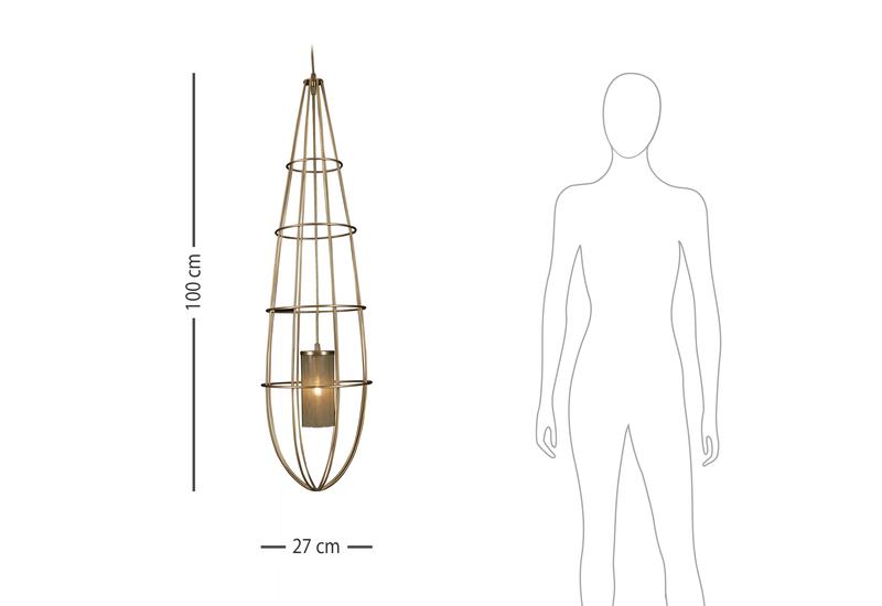 Zeppelin suspension lamps large hamilton conte treniq 6