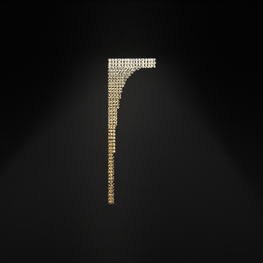 Waterfall Wall Lamp Small - Cryst - Treniq