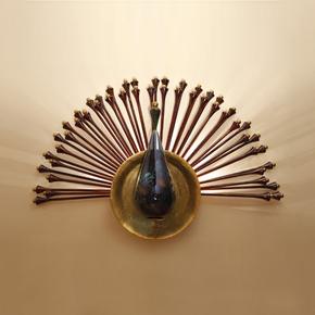 Peacock Wall Lamp - Klove Studio - Treniq