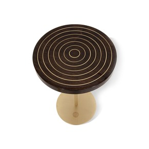 Geometric Lectern  Round Side Table I - Gauri Khan Designs - Treniq