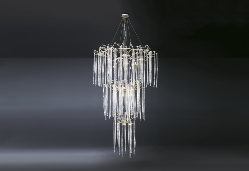 Waterfall suspension lamp clear glass serip treniq 1