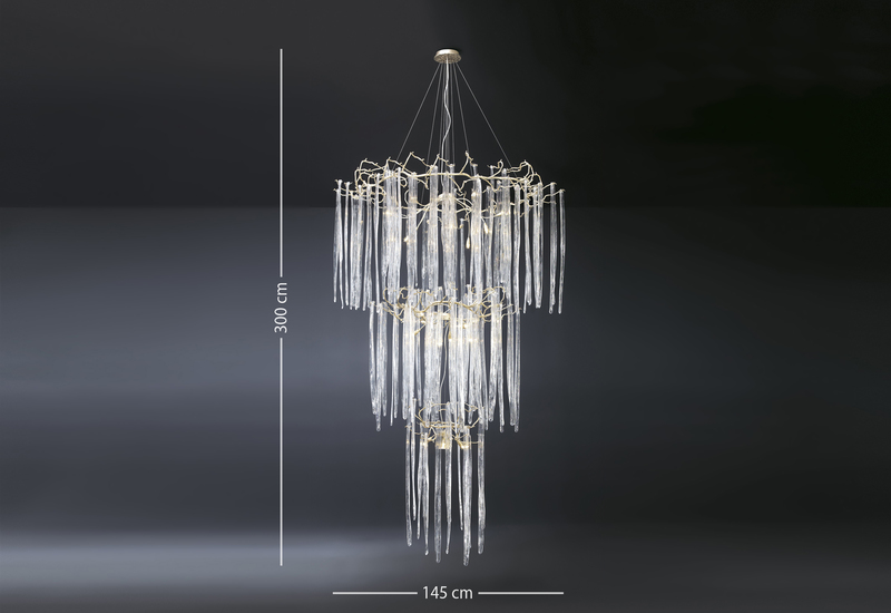 Waterfall suspension lamp clear glass serip treniq 4