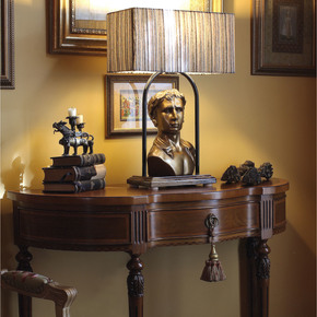 Caesar Head Table Lamp Gold - Esque Furniture Design House - Treniq