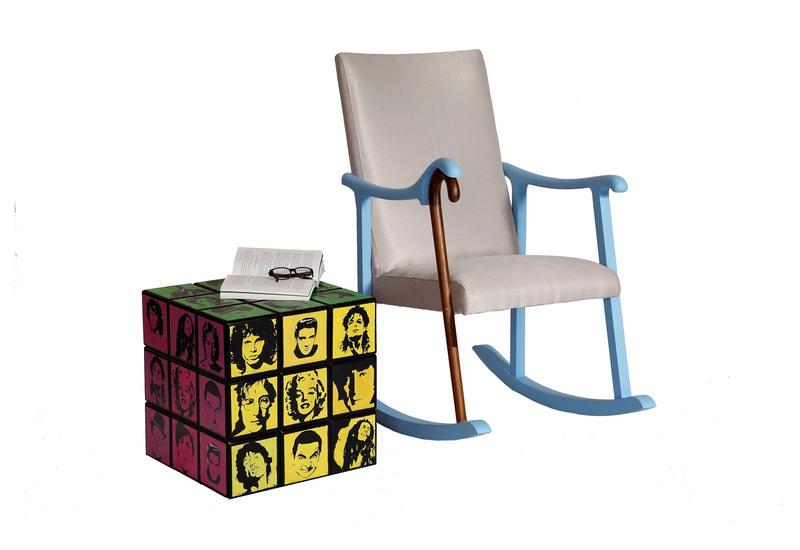 Rubik's Cube Side Table