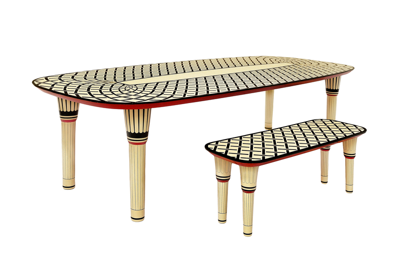 Aelita dining table scarlet splendour treniq 7