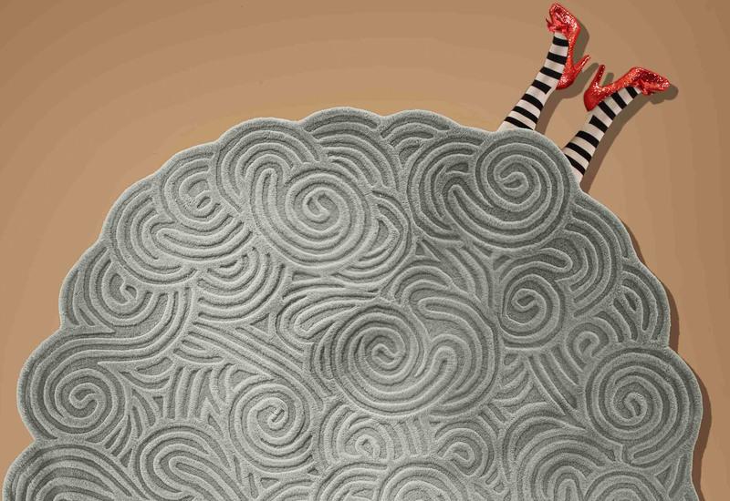 Round rugs scarlet splendour treniq 4