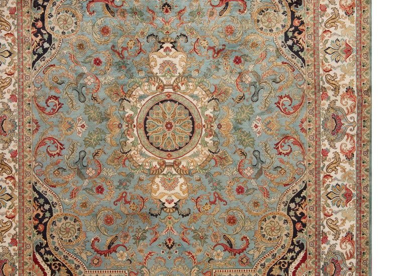 Golden age jewel blue ivory rug samad rugs treniq 4