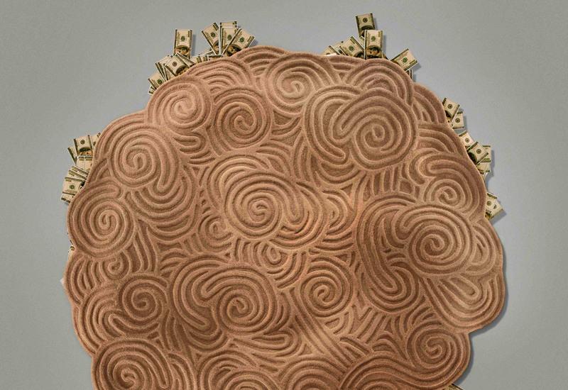Sand round rug scarlet splendour treniq 3