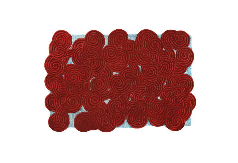 Berry ocean rectangular rug scarlet splendour treniq 1