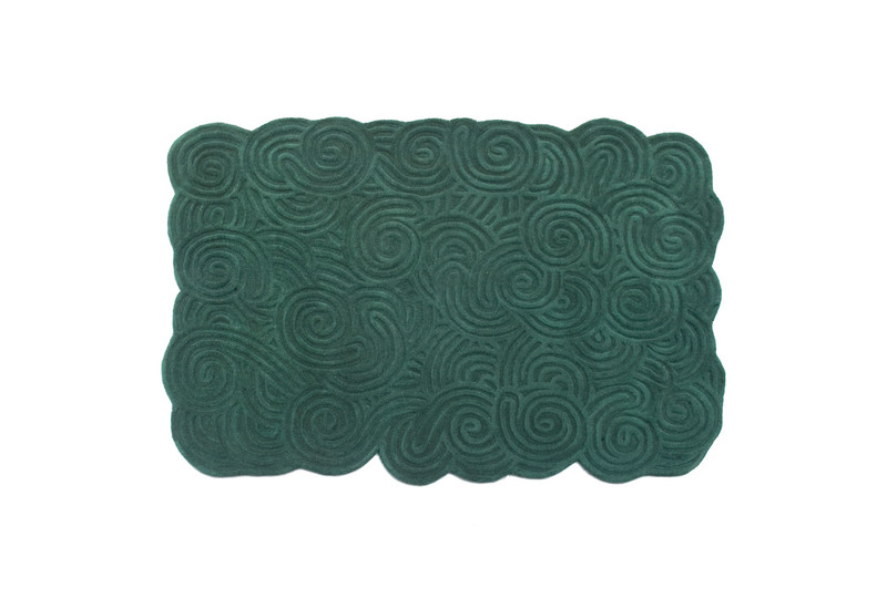Moss rectangular rug scarlet splendour treniq 1