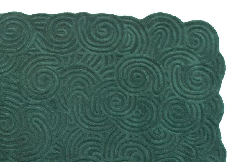 Moss rectangular rug scarlet splendour treniq 2
