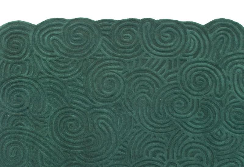 Moss rectangular rug scarlet splendour treniq 3