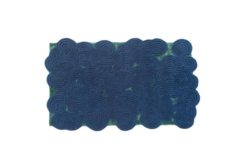 River moss rectangular rug scarlet splendour treniq 1