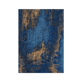 Washed Denim Blue and Copper Rug - Bazaar Valvet - Treniq