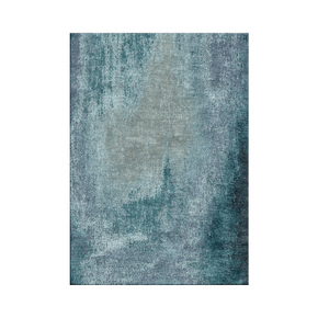 Washed Denim Teal Rug - Bazaar Valvet - Treniq