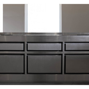 Semplice Matt Stainless Steel and Wenge Wood Kitchen - Strato - Treniq