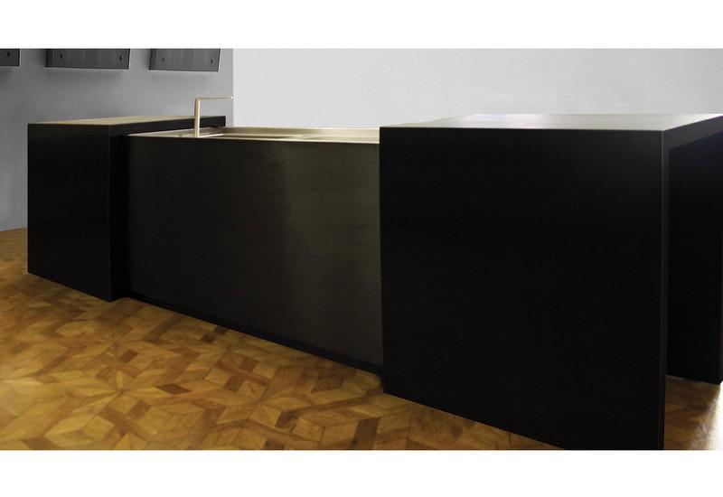 Semplice matt stainless steel black kitchen strato treniq 1
