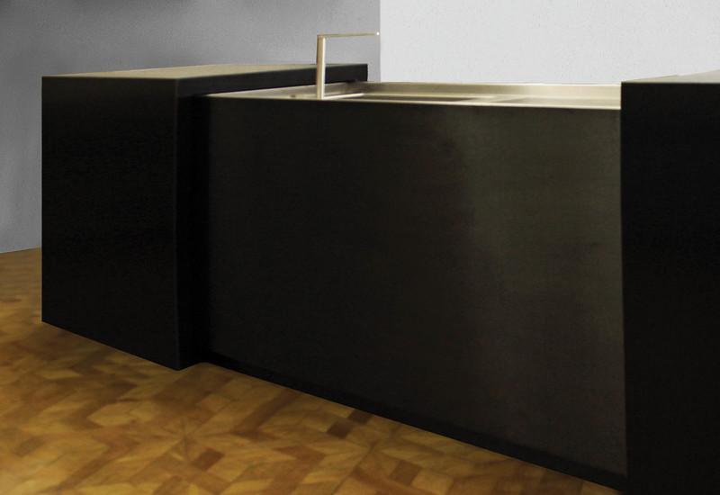 Semplice matt stainless steel black kitchen strato treniq 2
