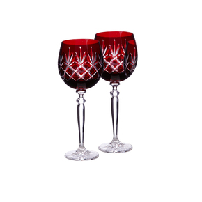 Pure Lux Traditional Wine Goblet Burgundy Red - Gurasu - Treniq