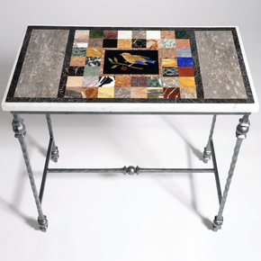 Pietra Dura Small Bird Table - Hurley - Treniq