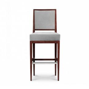 Rosenau Upholstered Back Bar Stool - Decca - Treniq