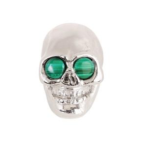 Charlie Skull Malachite knob I - Matthew Mc Cormick Studio - Treniq