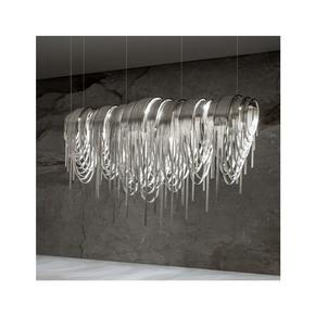 Contemporary Glamorous Rectangular Chain Chandelier Jennifer Manners - Treniq