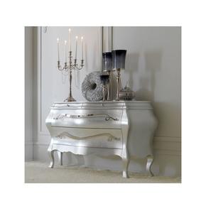 Designer Italian Silver leaf Bombe Chest - Jennifer Manners - Treniq