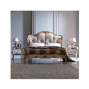 Italian Designer Button Upholstered Winged Bed - Jennifer Manners - Treniq
