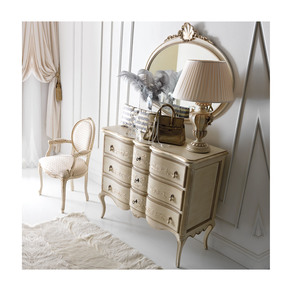 Italian Ornate Chest of Drawers and Mirror Set - Jennifer Manners - Treniq