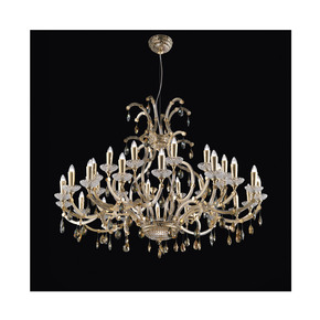 Large Murano gold and crystal chandelier - Jennifer Manners - Treniq