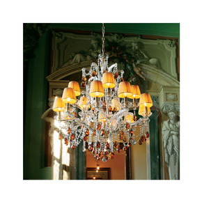 Luxury Italian Gold Amber Crystal Chandelier - Jennifer Manners - Treniq