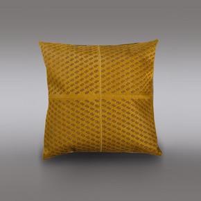 Mustard Hide Cushion - Casa Botelho - Treniq