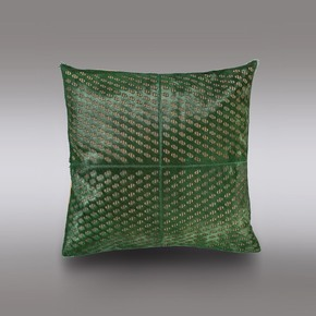 Seaweed Green Hide Cushion - Casa Botelho - Treniq