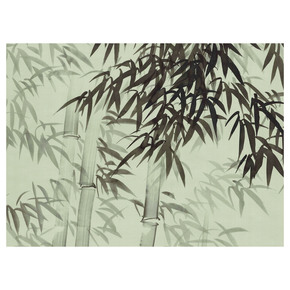 Bamboo Forest Green Panel - Mural Sources - Treniq