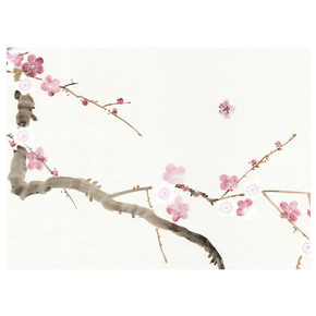 Cherry Blossoms White Panel - Mural Sources - Treniq