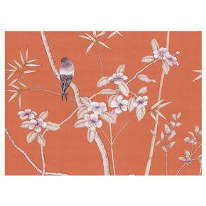 Palace Garden Orange Panel - Mural Sources - Treniq