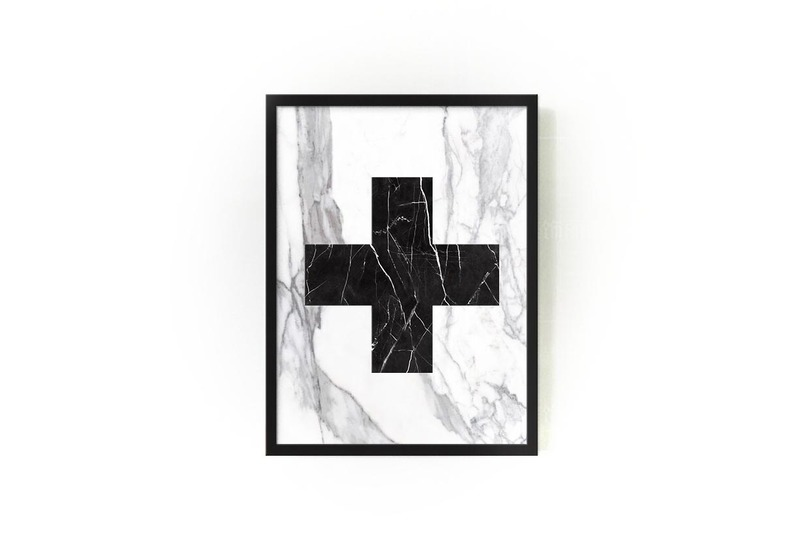 Marble cross wallart mikol treniq 1